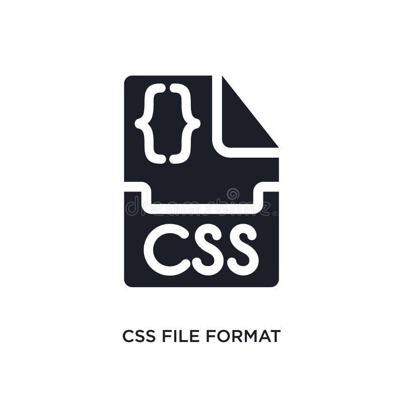 isolerad symbol för css-mappformat enkel beståndsdelillustration från att programmera begreppssymboler tecken för logo för css-ma vektor illustrationer