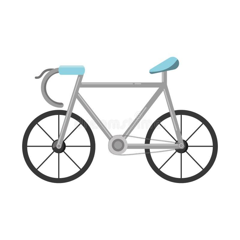 Isolerad symbol för cykel medel royaltyfri illustrationer