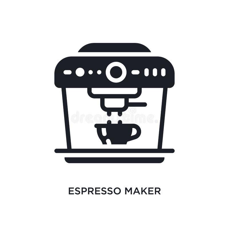 isolerad symbol för espressotillverkare enkel beståndsdelillustration från begreppssymboler för elektroniska apparater tecken för vektor illustrationer