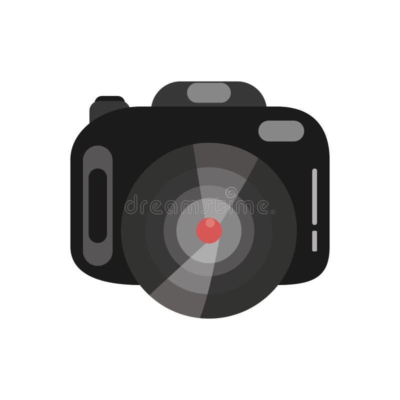 Isolerad symbol för fotografisk kamera apparat royaltyfri illustrationer