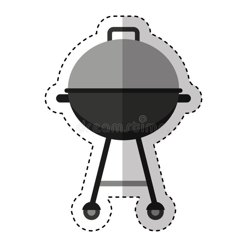 isolerad symbol för galler bbq vektor illustrationer