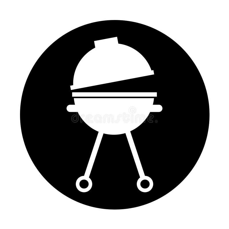 Isolerad symbol för galler kontur stock illustrationer