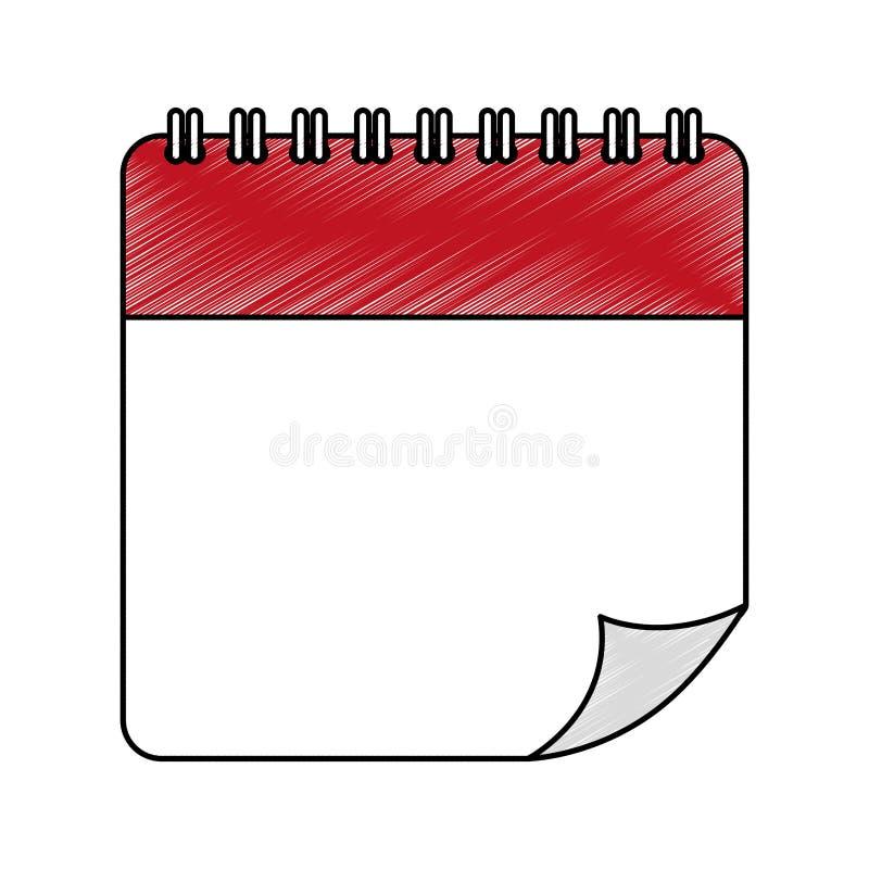 Isolerad symbol för kalenderdatum stock illustrationer