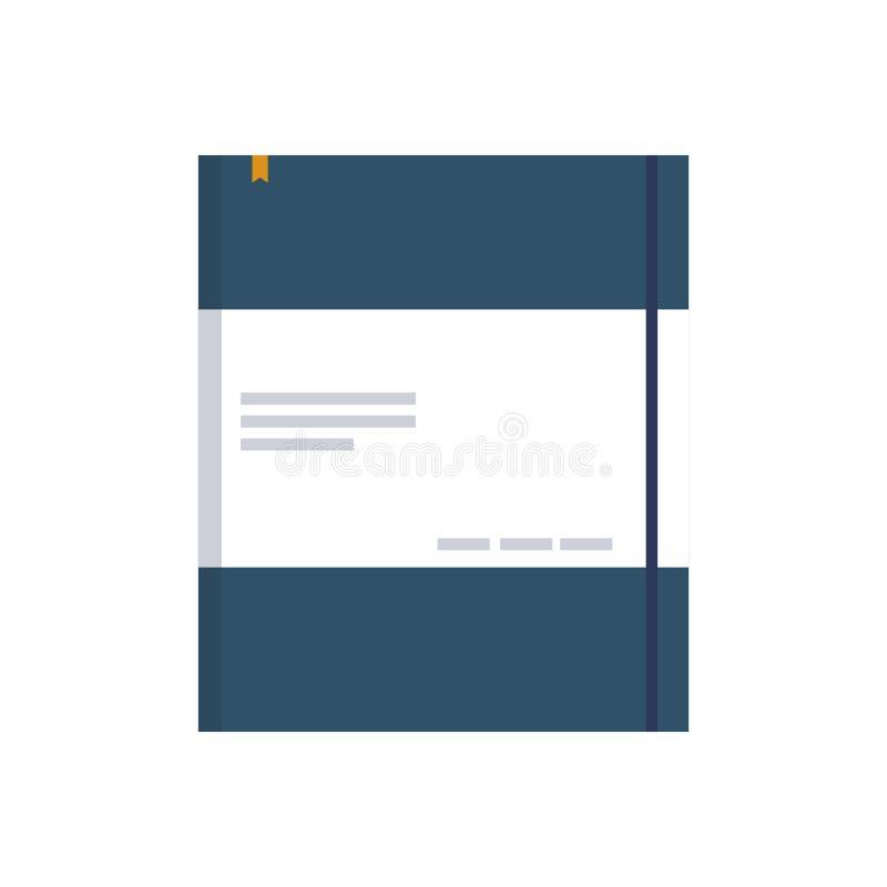 Isolerad symbol för kontor notepad stock illustrationer
