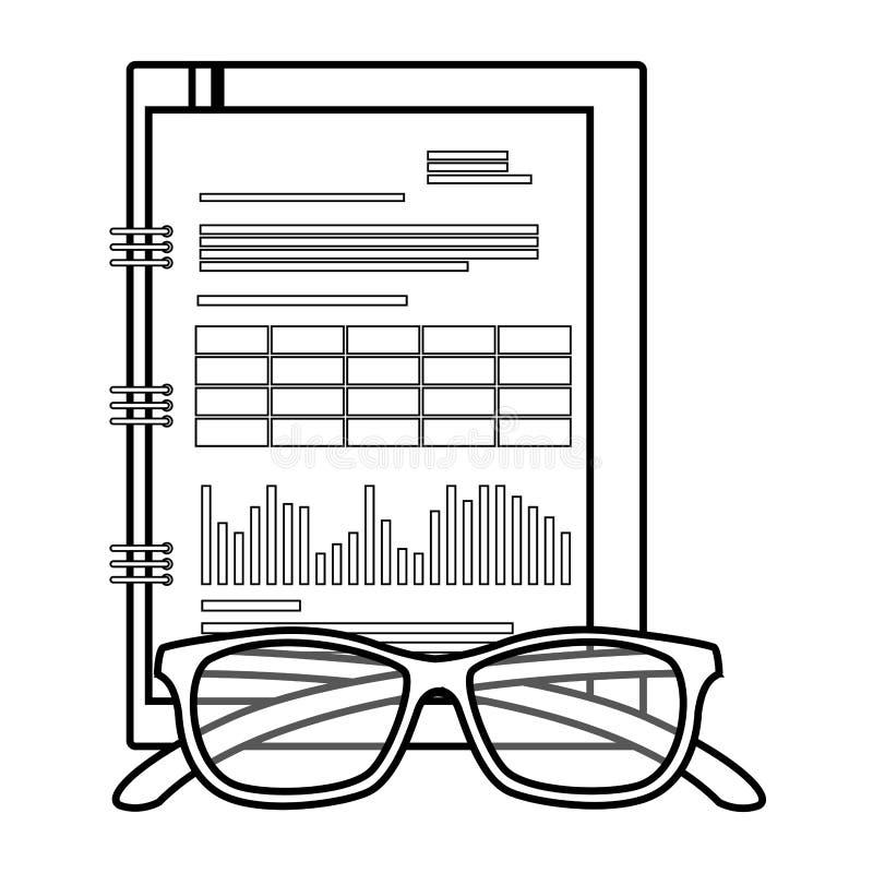 Isolerad symbol för kontor notepad royaltyfri illustrationer