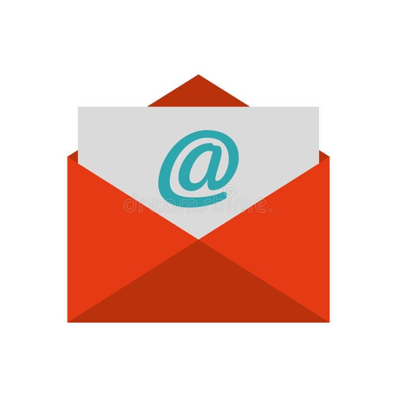 Isolerad symbol för kuvert brevpapper stock illustrationer