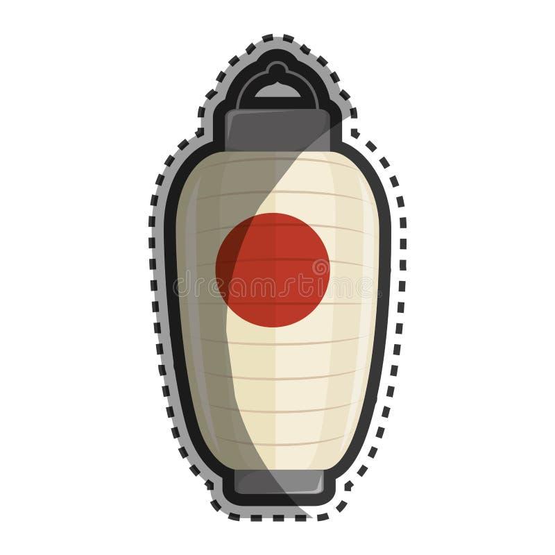 Isolerad symbol för lykta japansk kultur vektor illustrationer