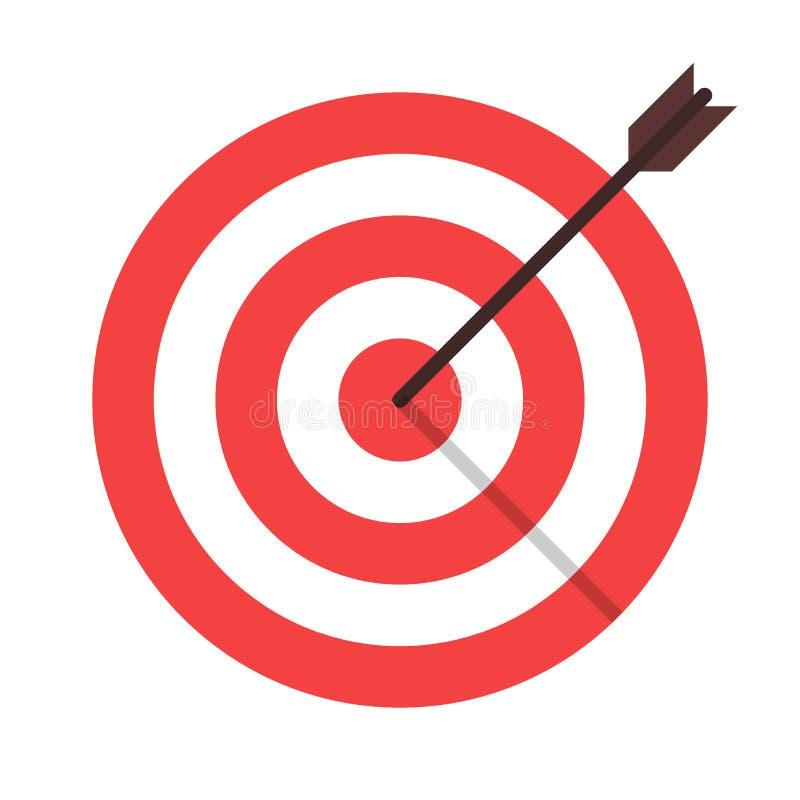 isolerad symbol för mål pil vektor illustrationer