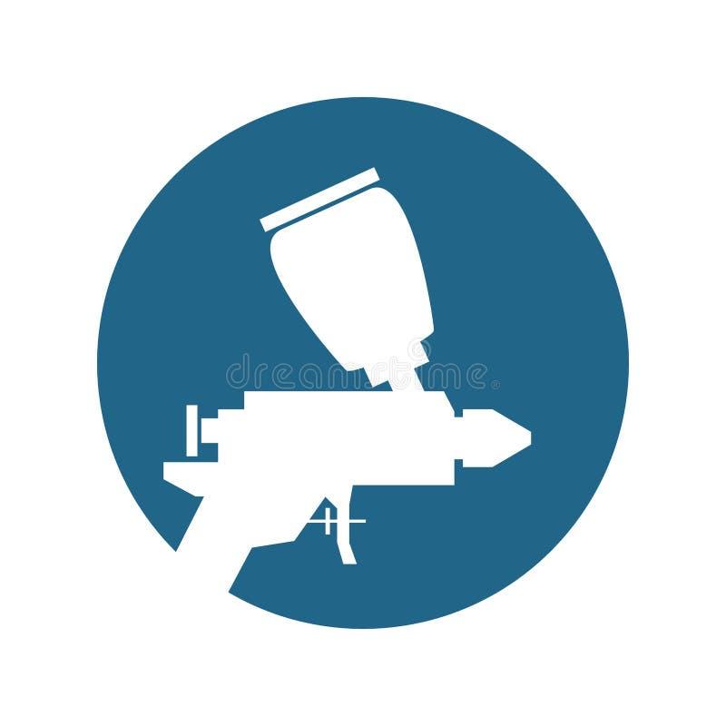Isolerad symbol för målarfärg kompressor vektor illustrationer