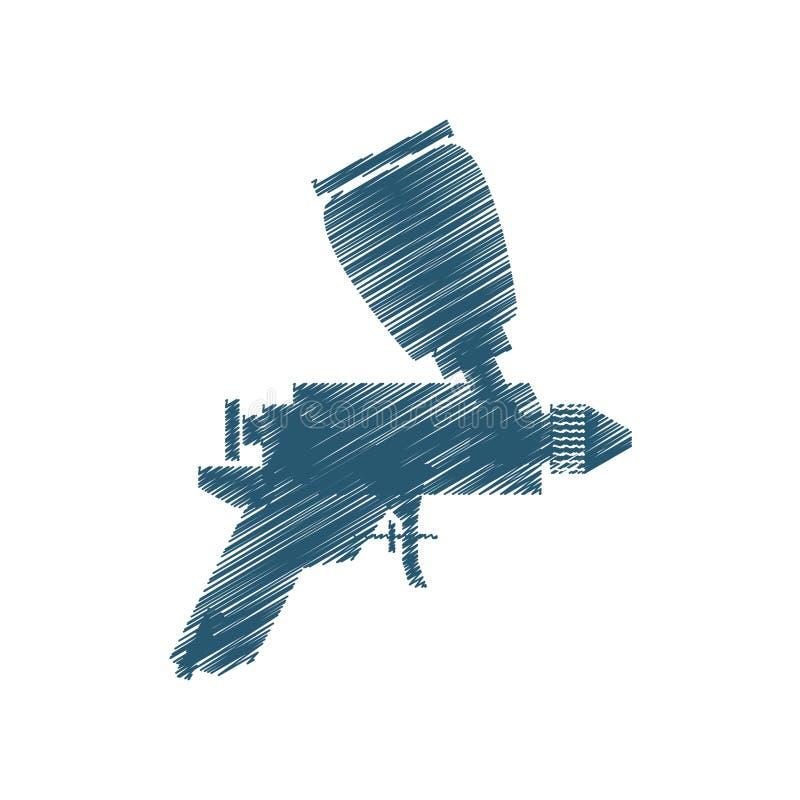 Isolerad symbol för målarfärg kompressor royaltyfri illustrationer