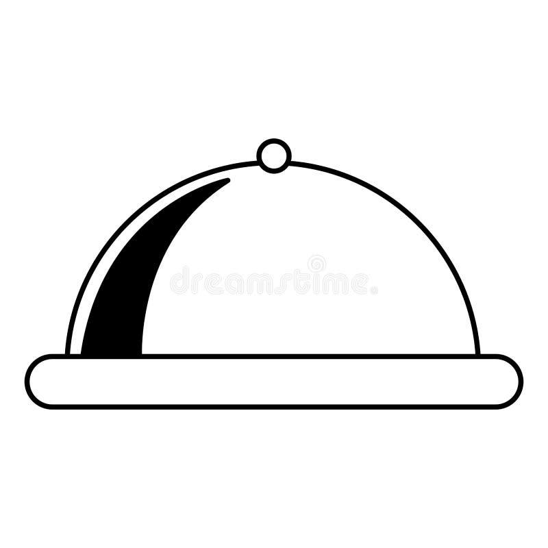 Isolerad symbol för magasin server royaltyfri illustrationer