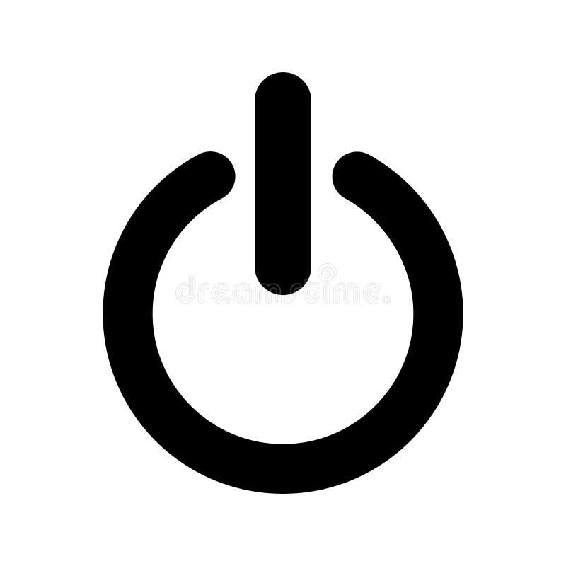 isolerad symbol för makt knapp royaltyfri illustrationer