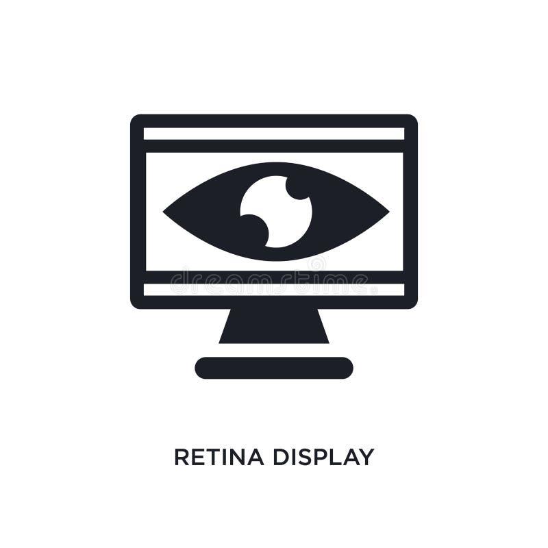 isolerad symbol för näthinna skärm enkel beståndsdelillustration från teknologibegreppssymboler symbol för tecken för logo för nä stock illustrationer