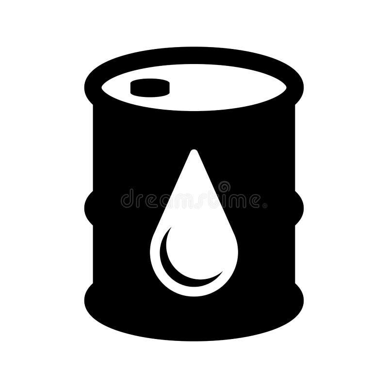 Isolerad symbol för olje- trumma vektor illustrationer