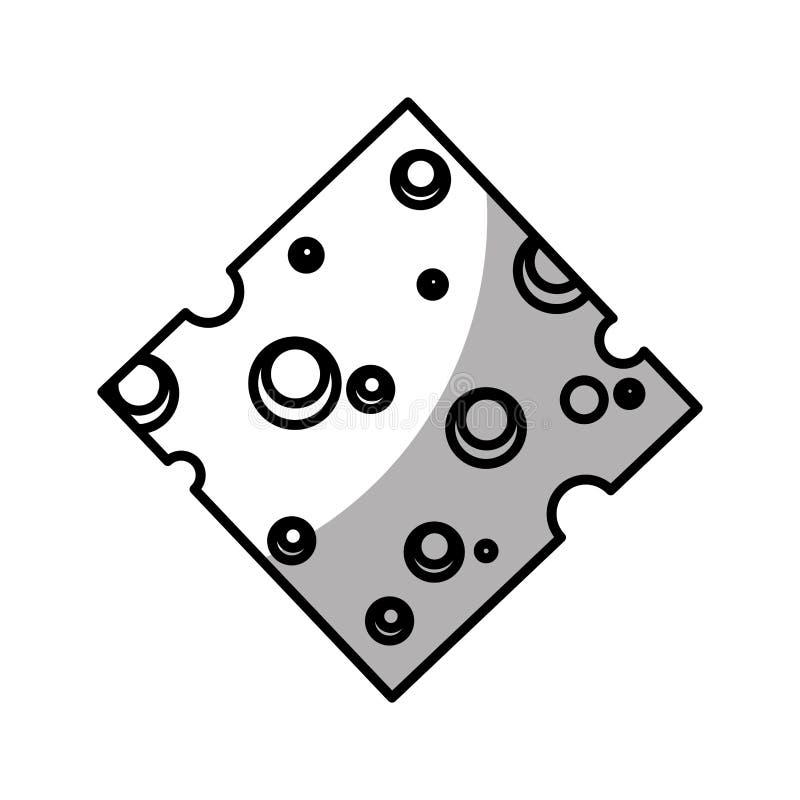 isolerad symbol för ost skiva vektor illustrationer