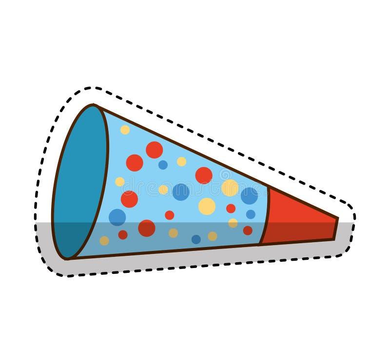 Isolerad symbol för parti kornett royaltyfri illustrationer