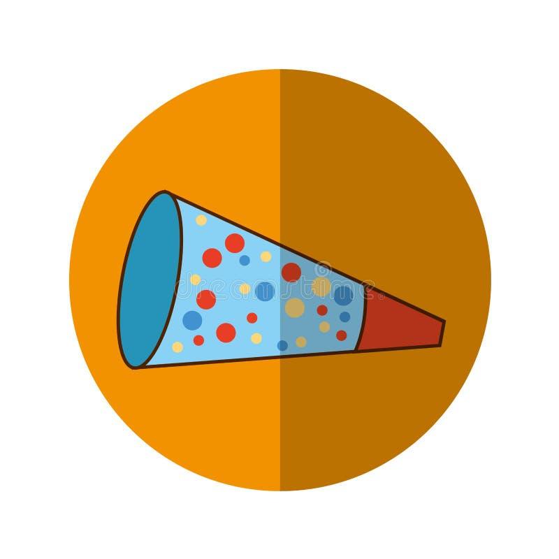 Isolerad symbol för parti kornett stock illustrationer