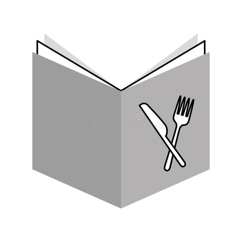 Isolerad symbol för recept bok vektor illustrationer