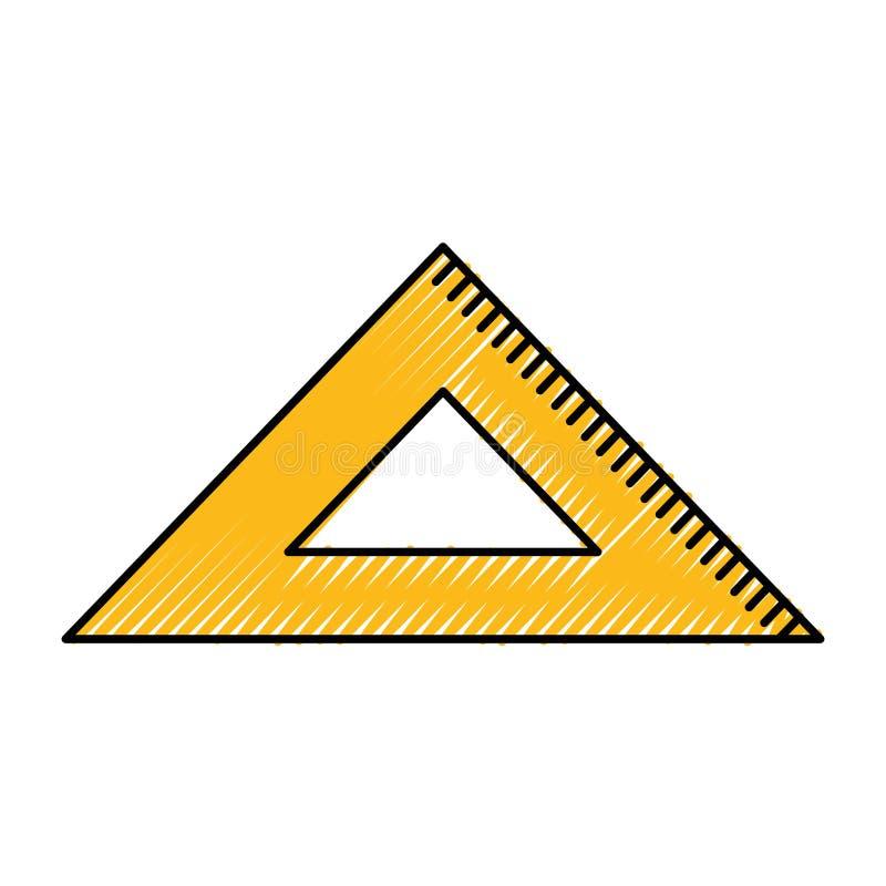 Isolerad symbol för regel skola stock illustrationer