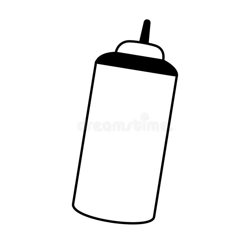 isolerad symbol för sås flaska stock illustrationer