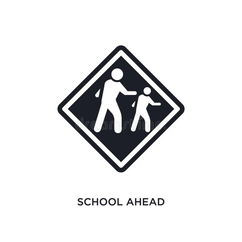isolerad symbol för skola framåt enkel beståndsdelillustration från symboler för begrepp för trafiktecken för logotecken för skol vektor illustrationer