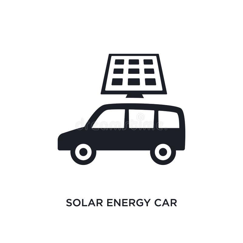 isolerad symbol för sol- energi bil enkel beståndsdelillustration från konstgjorda intellegencebegreppssymboler redigerbar bil fö royaltyfri illustrationer