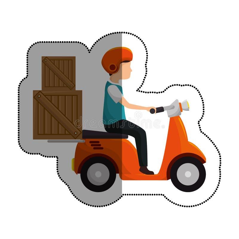 isolerad symbol för sparkcykel medel royaltyfri illustrationer