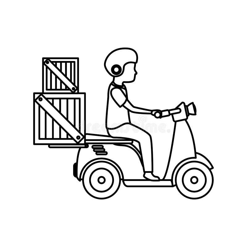 isolerad symbol för sparkcykel medel vektor illustrationer