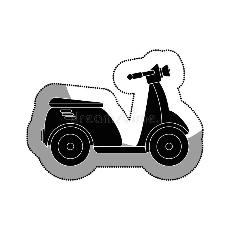 isolerad symbol för sparkcykel medel stock illustrationer