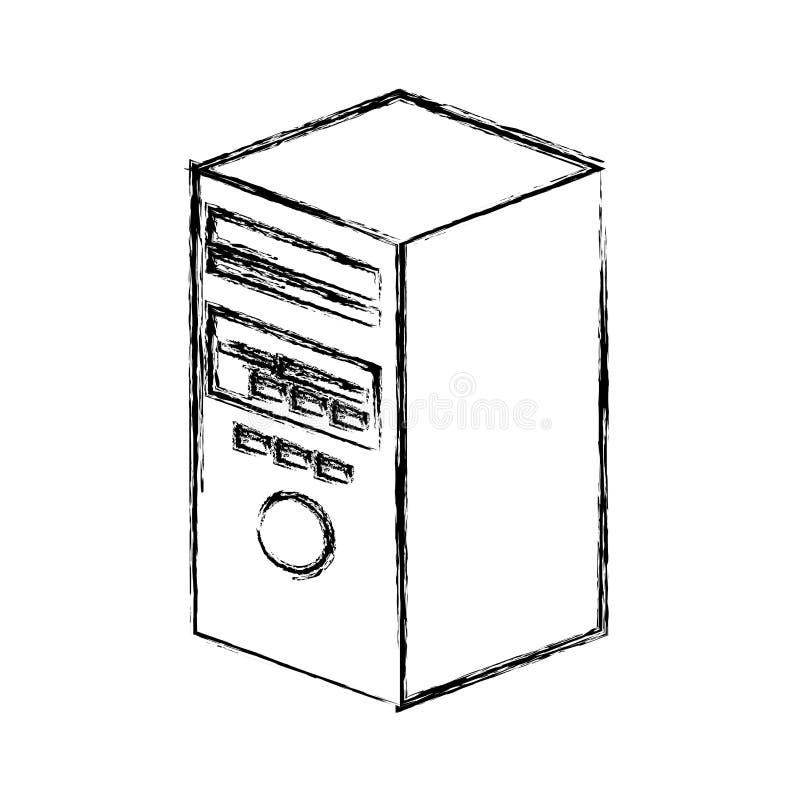 isolerad symbol för torn server stock illustrationer