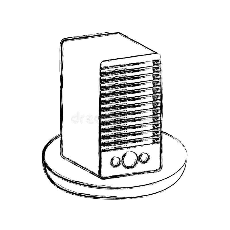 isolerad symbol för torn server royaltyfri illustrationer