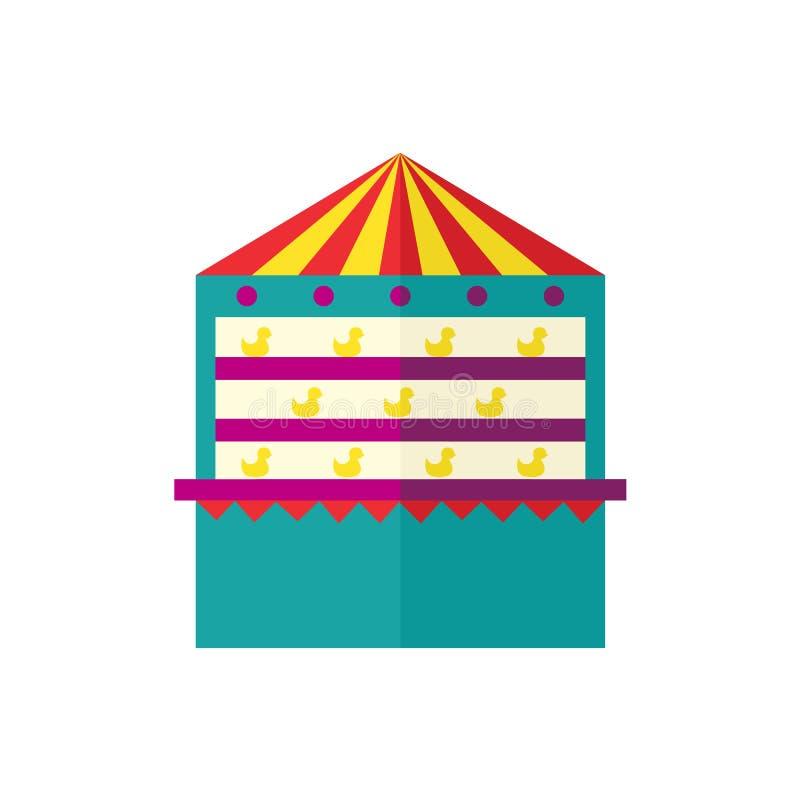 Isolerad symbol för vektorskyttegalleri stock illustrationer