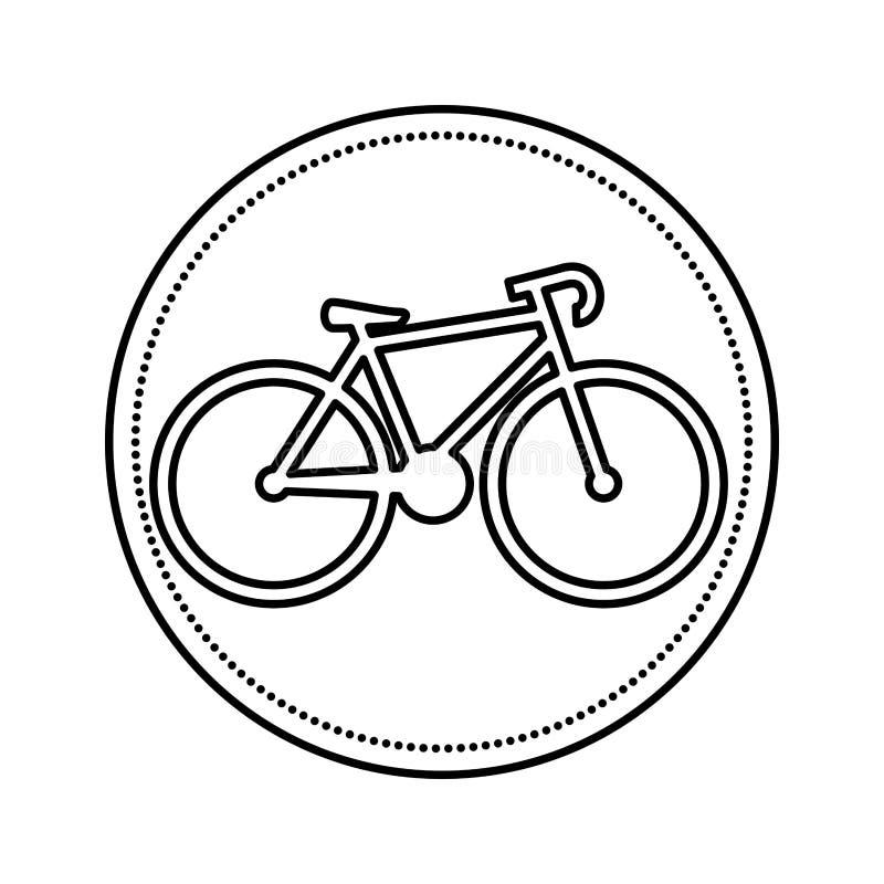 Isolerad symbol f?r cykel medel stock illustrationer