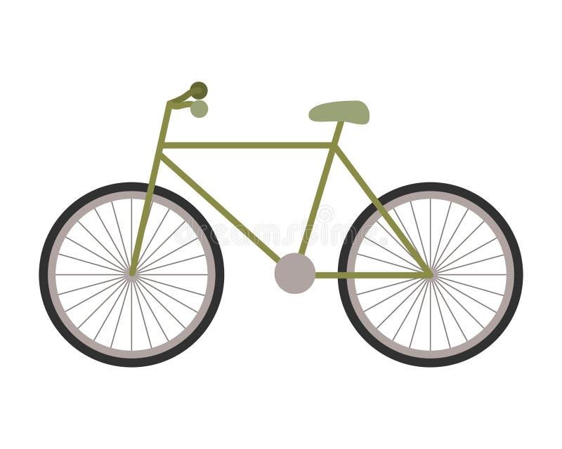 Isolerad symbol f?r cykel medel vektor illustrationer