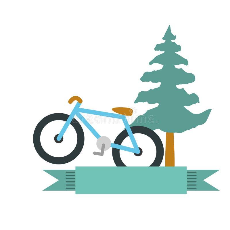 Isolerad symbol f?r cykel medel royaltyfri illustrationer