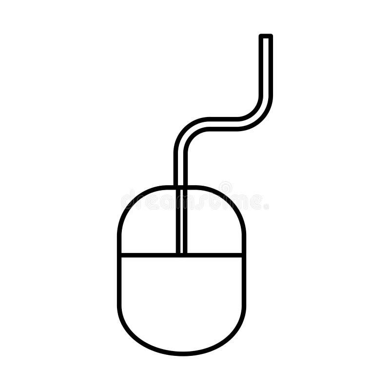 Isolerad symbol f?r dator mus royaltyfri illustrationer