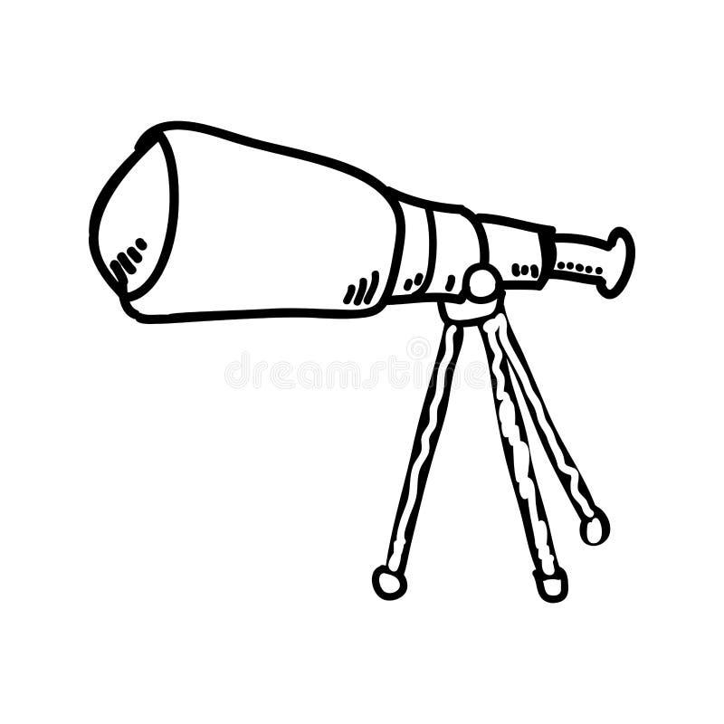 Isolerad symbol f?r teleskop apparat royaltyfri illustrationer