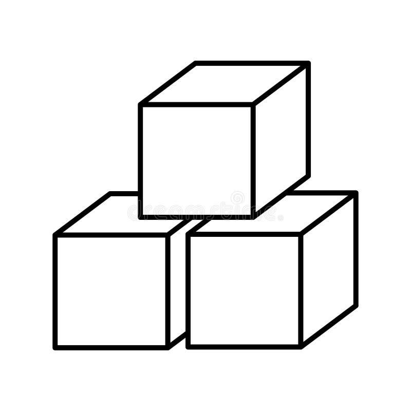 isolerad symbolsdesign för socker kuber vektor illustrationer