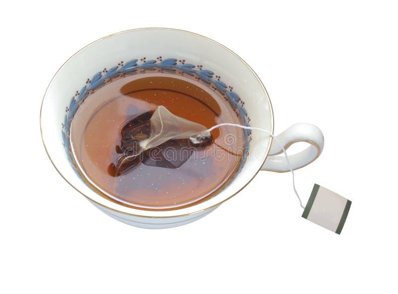 isolerad teacup arkivbilder
