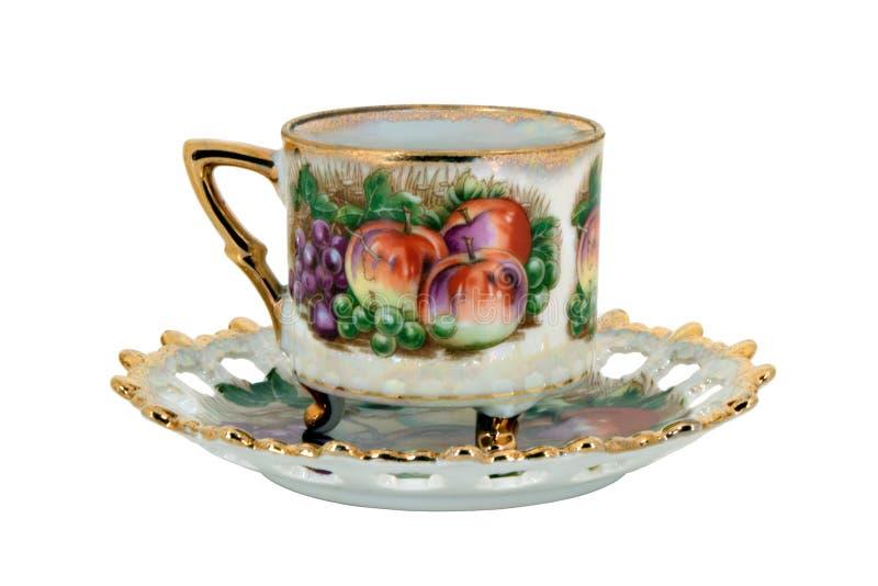 isolerad teacup för livstid fortfarande arkivfoton