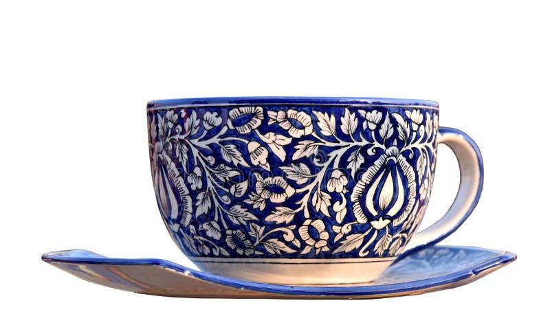 isolerad teawhite för bakgrund kopp royaltyfria foton