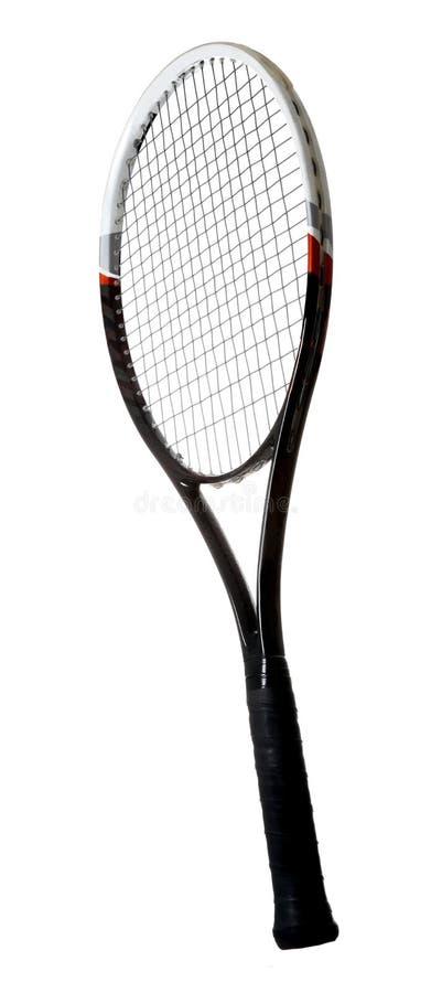 Isolerad tennisracket royaltyfria foton