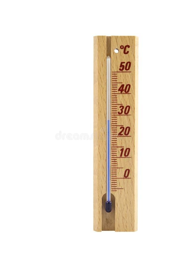isolerad termometerwhite royaltyfri bild