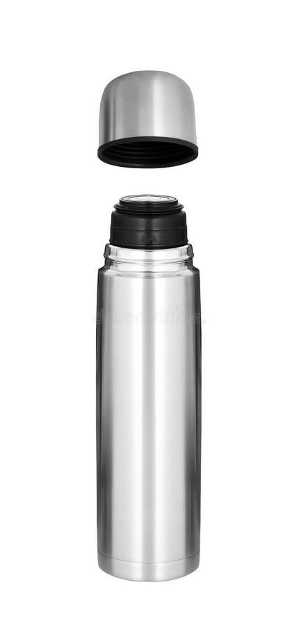 Isolerad Thermo flaska royaltyfria foton