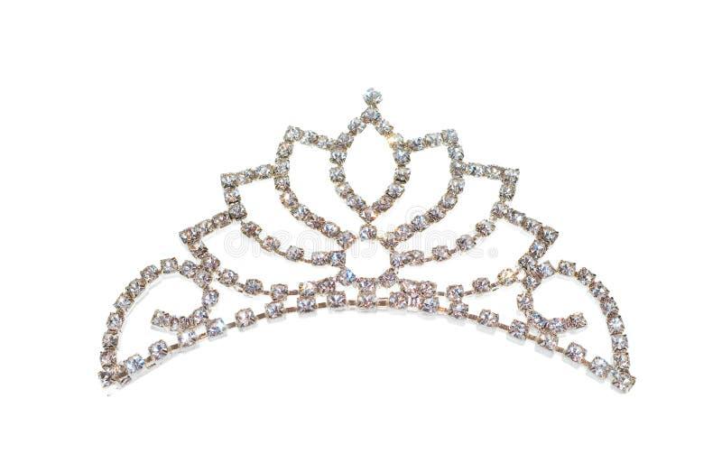 isolerad tiara för krona diadem royaltyfri bild