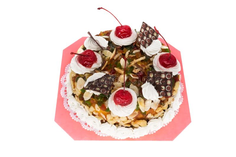 Isolerad Torte arkivbild