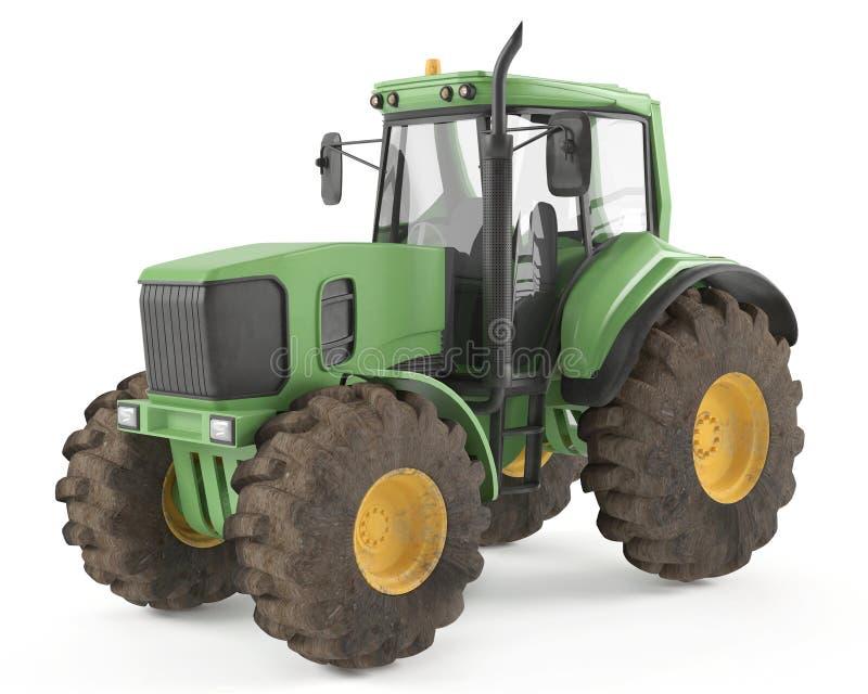 Isolerad traktor stock illustrationer