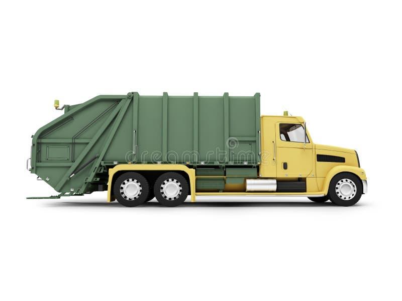 isolerad trashcar sikt för sida royaltyfri illustrationer
