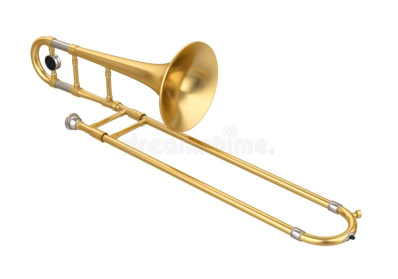 Isolerad trombon vektor illustrationer