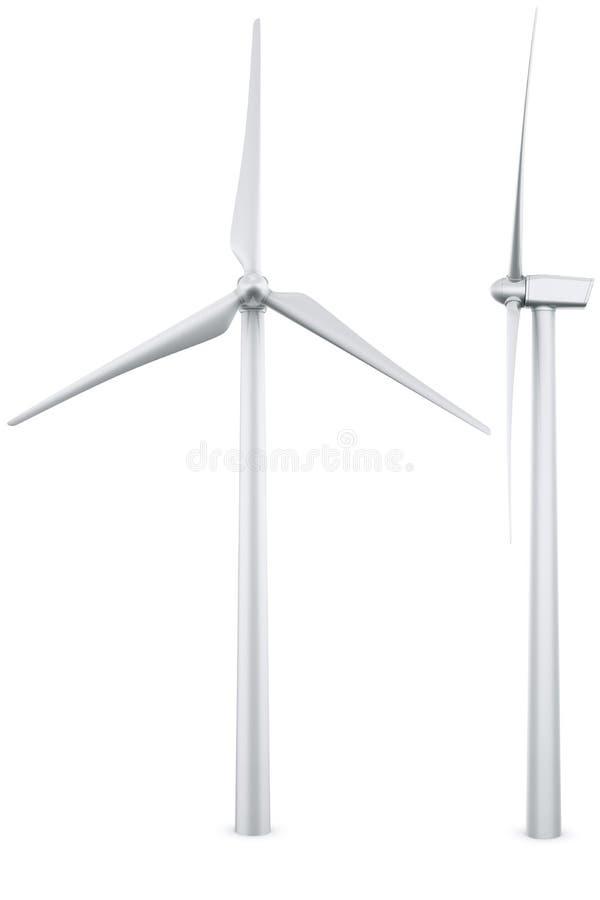 isolerad turbinwind royaltyfri illustrationer